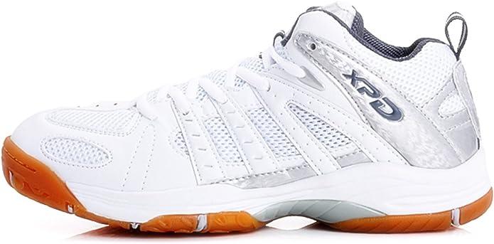 XPD Professional Sports Shoes - Zapatillas de Voleibol de Material Sintético para Hombre Blanco Blanco: Amazon.es: Zapatos y complementos