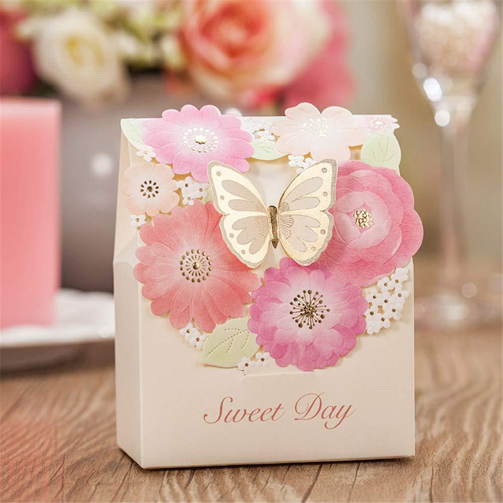 Amazon.com: 25 Pcs Beautiful Butterfly Wedding favor Box Candy Box ...