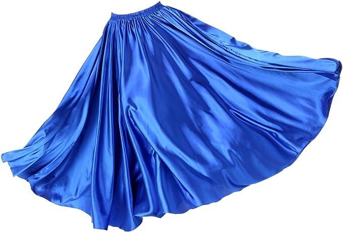B Baosity Larga Falda Plisada para Mujer, Falda Elegante para ...