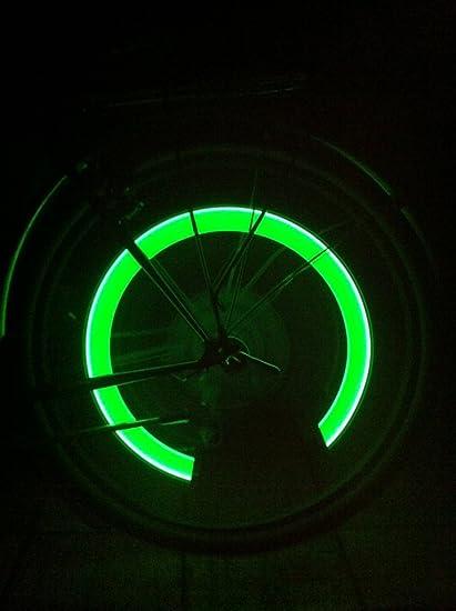 7tlg Fahrrad Ventilkappen Speichenlicht Radlicht LED Ventil Licht Beleuchtung DE