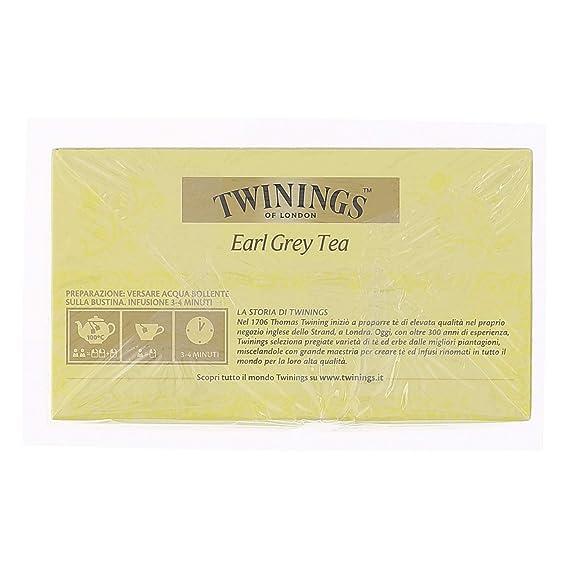 bolsas de té Twinings 50 bolsas Earl Grey Tea: Amazon.es ...