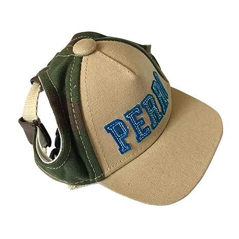 PanDaDa - Sombrero Ajustable para Perro, Gorra de béisbol, Visera ...