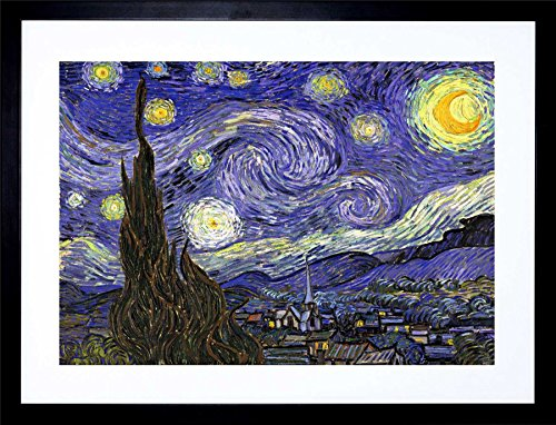 - Vincent Van Gogh Starry Night Old Master Painting Art Framed Art Print F12X1627