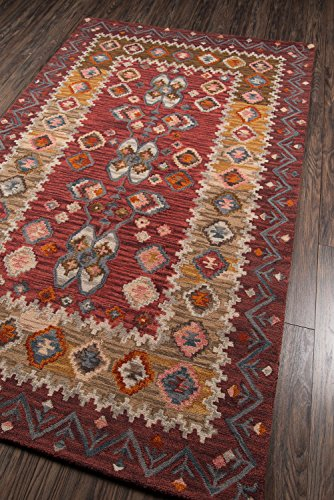 Momeni Rugs TANGITAN-1RED3656 Tangier Collection, 100% Wool Hand Tufted Tip Sheared Transitional Area Rug, 3'6