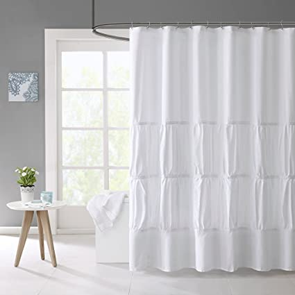 Mirimar Solid White Shower Curtain Casual Curtains For Bathroom 72 X