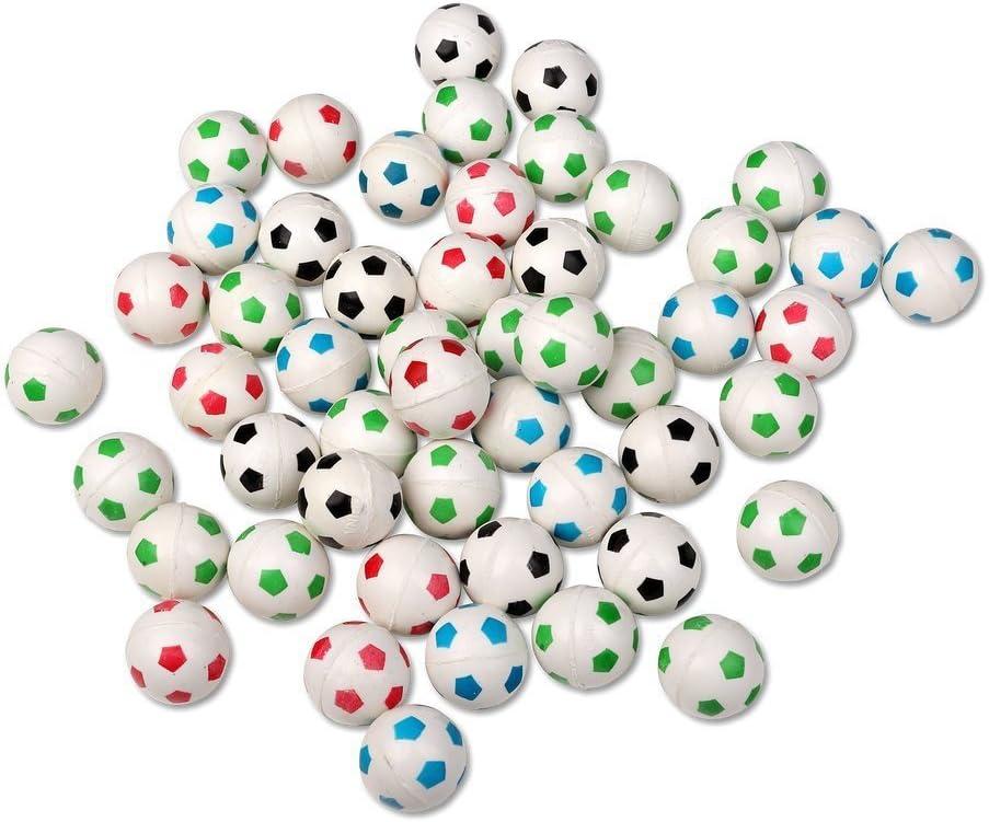 Paquete de 50 pelotas de goma saltarinas con diseño de pelota de ...