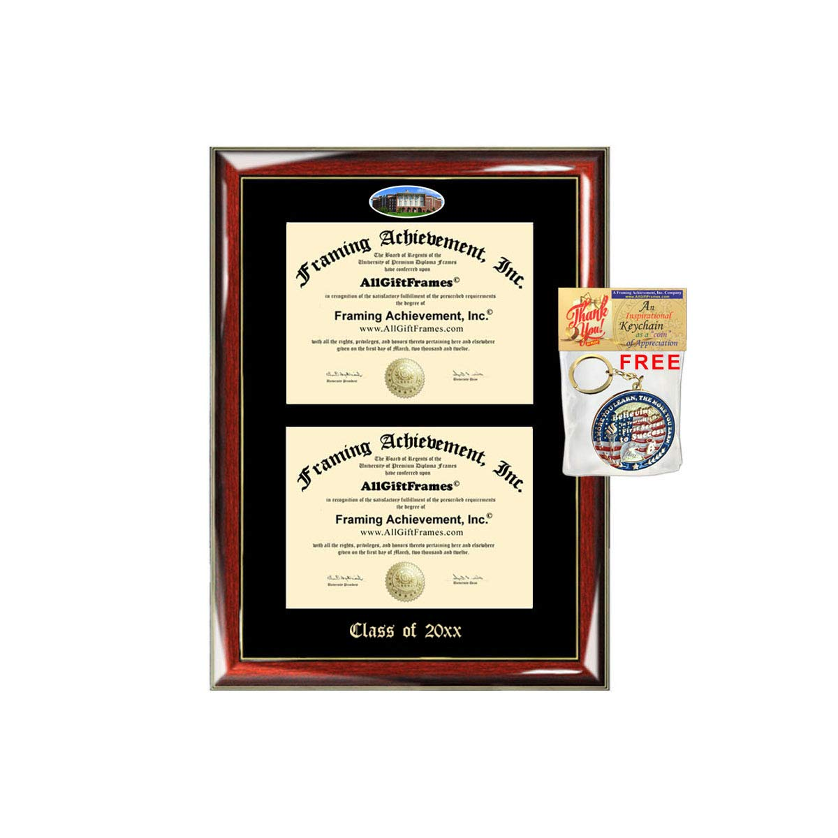 University Of Kentucky Majors >> Amazon Com Allgiftframes Double Certificate Frame