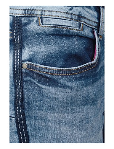 Blue Vaqueros Street Bleached Slim 11108 authentic Mujer One Para Blau Heavy AqTqw0