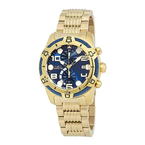 Invicta Bolt Reloj de hombre cuarzo correa y caja de acero dial azul 25549: Amazon.es: Relojes