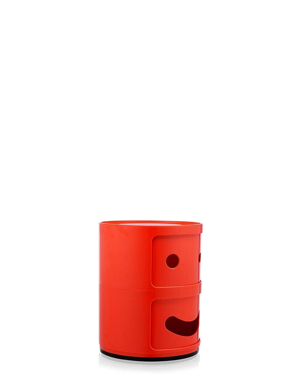 40x40x32 cm Kartell COMPONIBILI Smile Mueble Contenedora Rojo