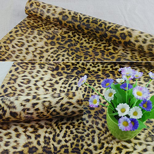 SimpleLife4U 10 Meter(32.8 feet) Sexy Leopard Print Removable Vinyl Wallpaper Home Bedroom Decor Valentine's Day Gift (Floral Print Wallpaper)