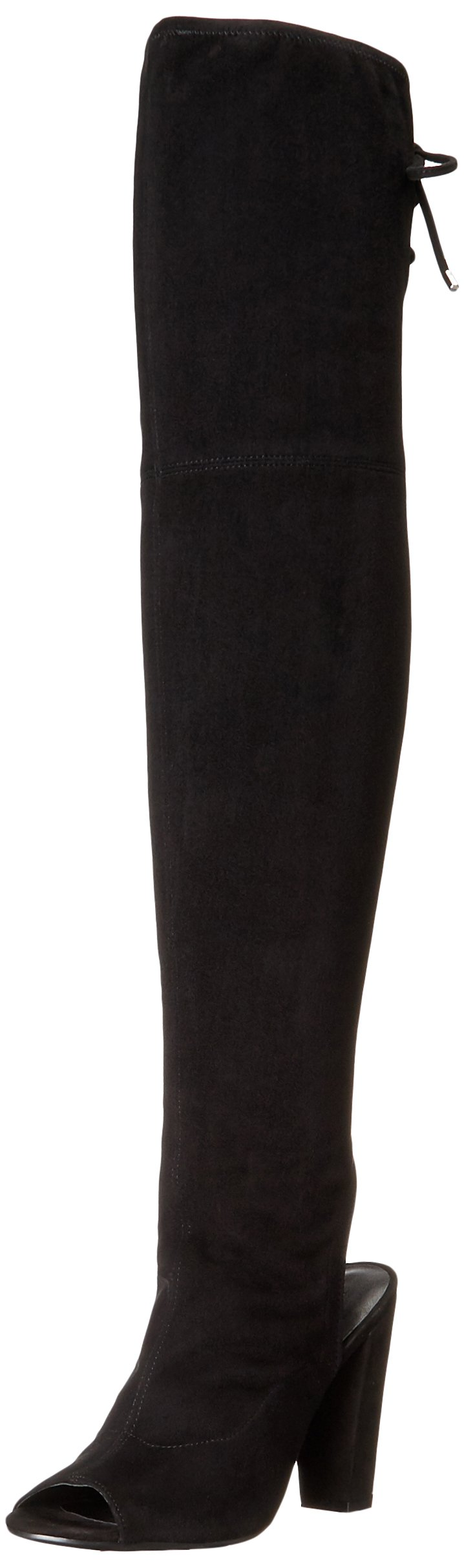 GUESS Women's Galle Riding Boot, Black, 7.5 M US