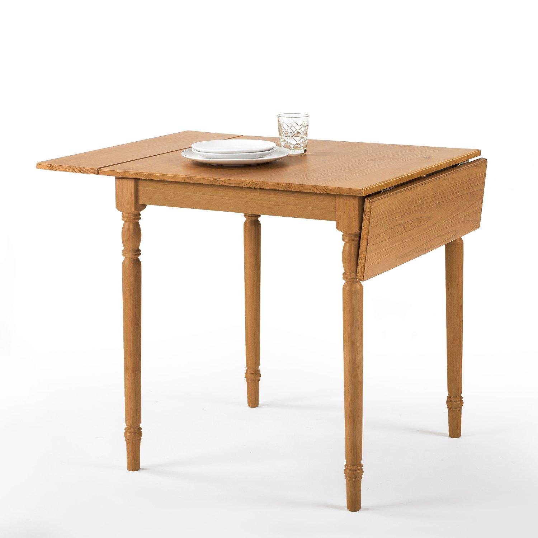 Zinus Provence Drop Leaf Wood Dining Table / Turned Legs / Natural