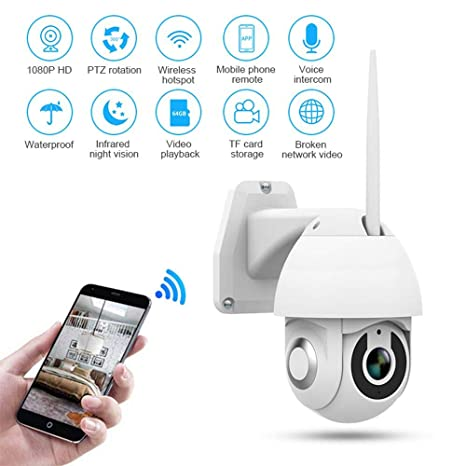 WIFI Wireless IP Camera 1080P CCTV Outdoor Security Waterproof IR Night Vision