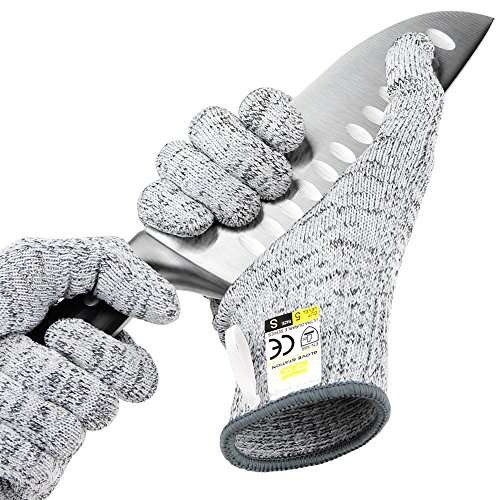 (Glove Station Ultra Durable Series Cut Resistant Gloves - High Performance Level 5 Protection, Food Grade, Granite Gray, Small Size, 1)