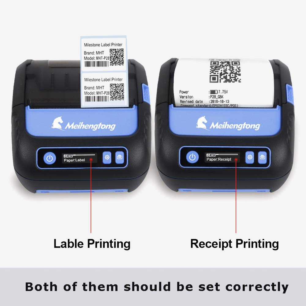 Thermal Printers, 80mm Bluetooth Printer Thermal Android iOS PC Label Printer with Rechargeable Battery for Small Business,Supermarket, Retail and More (80MM Thermal Printer) by Milestone (Image #6)