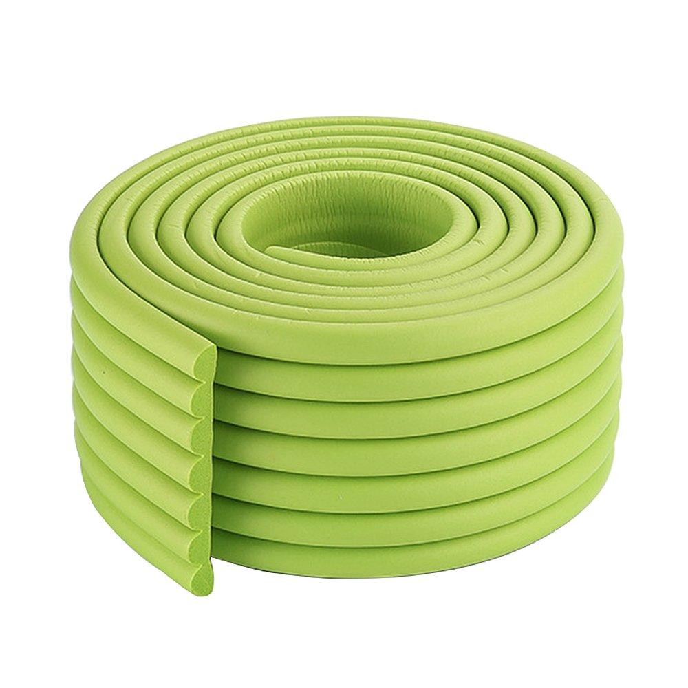 赤ちゃん子供の子供のための緑の中2x2m / 13フィート耐久性のあるゴム製のエッジプロテクターコーナークッション椅子エッジガード B078MFT1W9 2×2m/13ft|緑 緑 2×2m/13ft