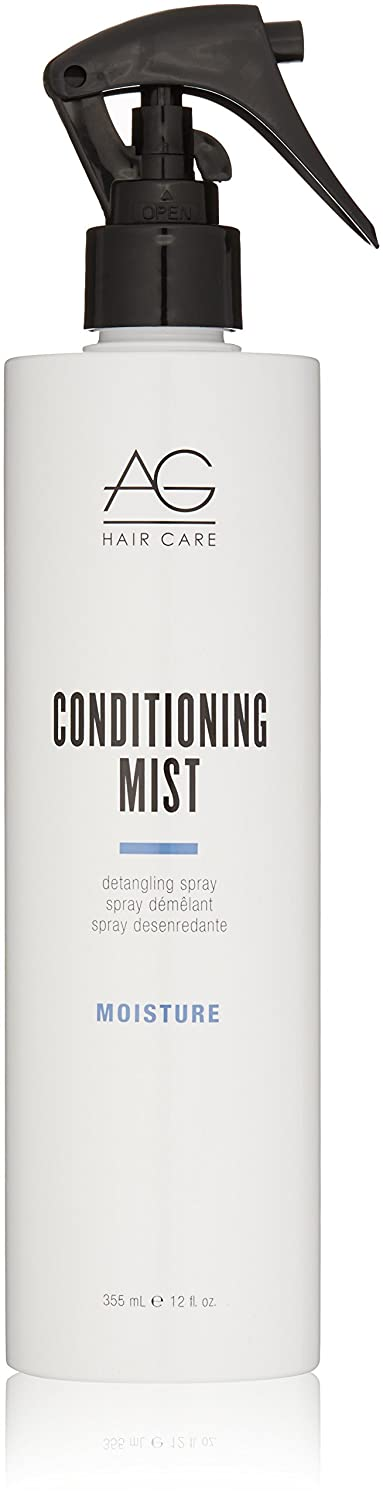 AG Hair Moisture Conditioning Mist Detangling Spray, 12 Fl Oz