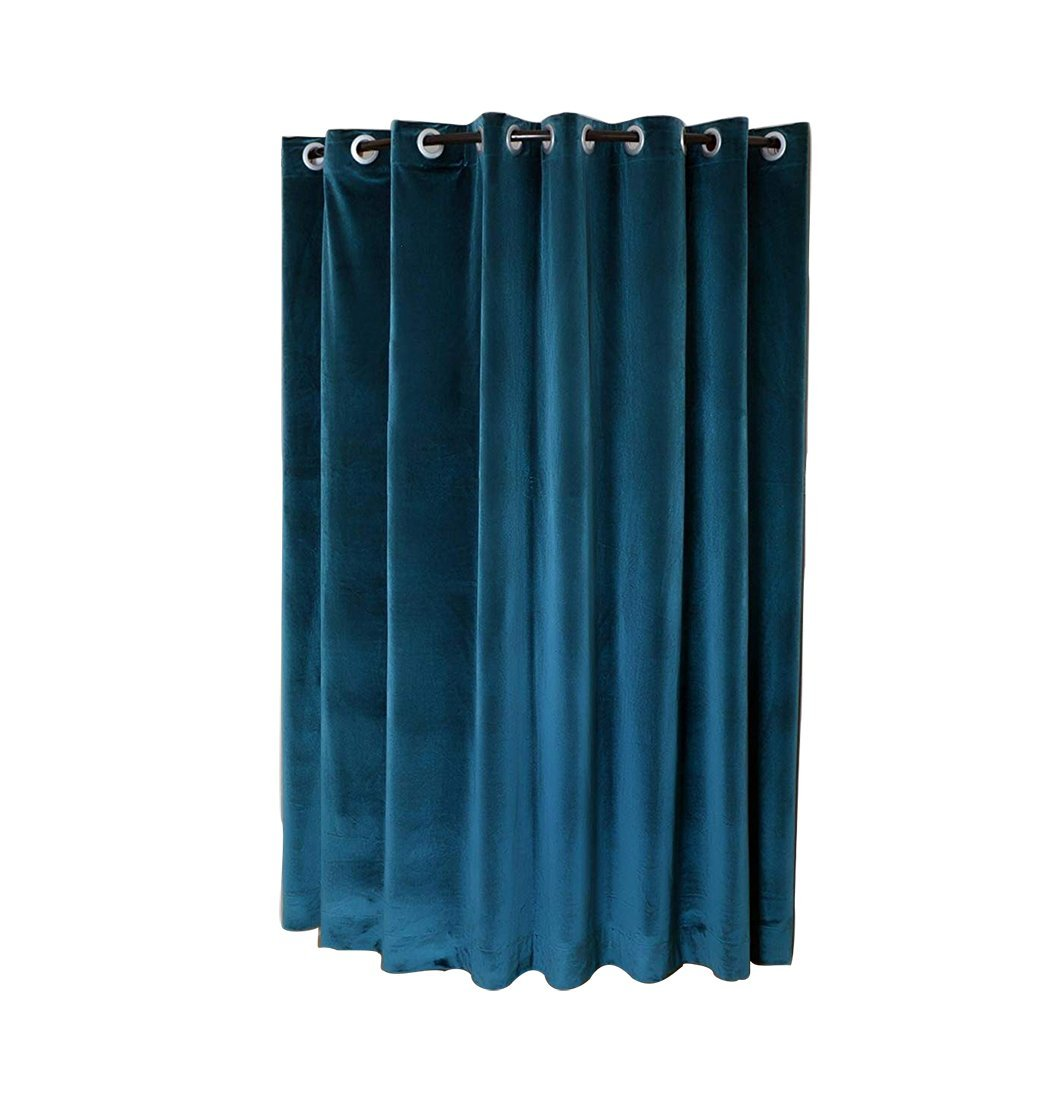 Sideli Wide Grommet Curtain Panel Velvet Locker Room Curtain Privacy Room Divider Curtains,Hotel Curtain Motel Curtain Theater Curtain Super wide Curtain (12.5ft Wide x 8ft tall, Peacock Blue)