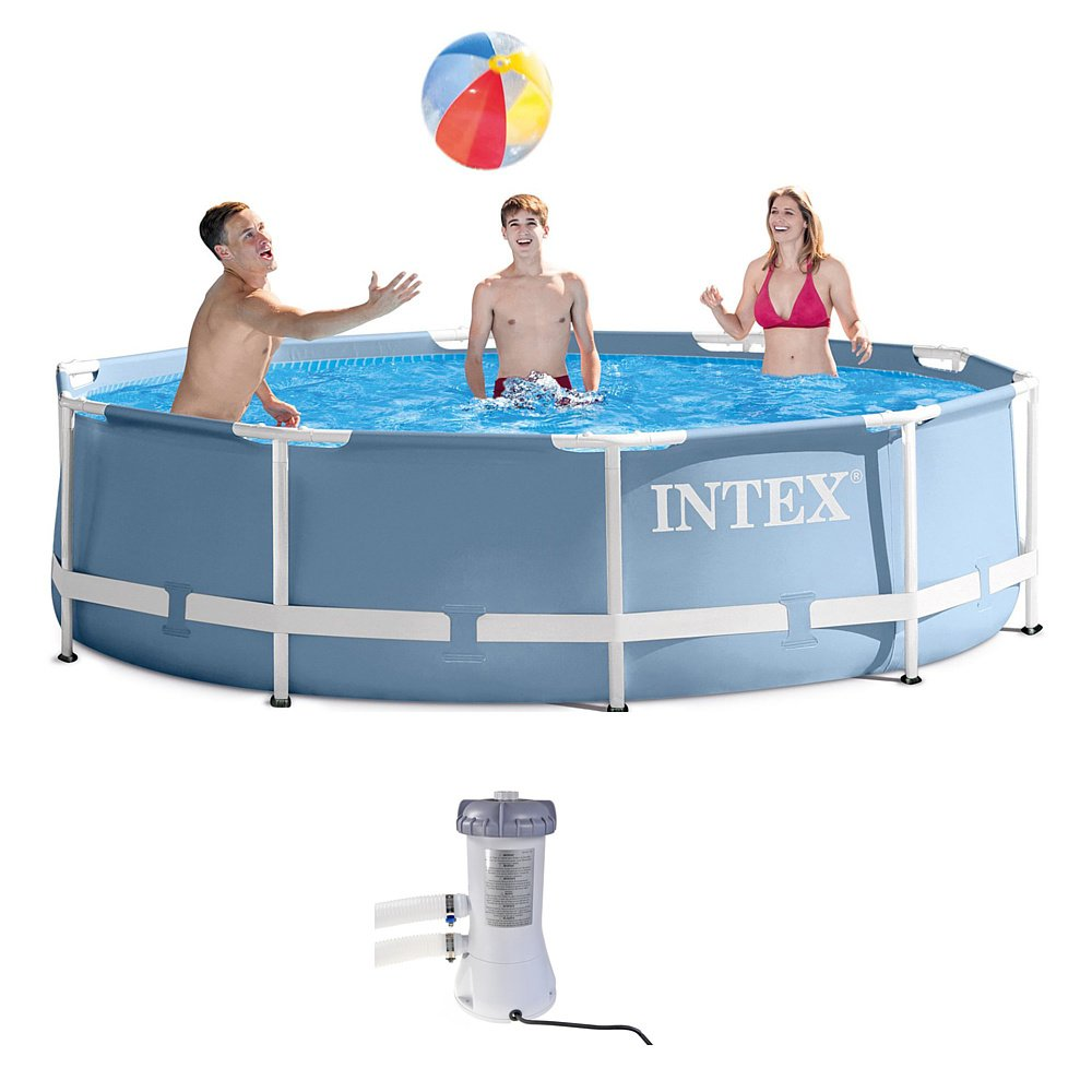 Intex 28712UK 12 ft x 30-Inch Prism Frame Pool Set - Light Blue Intex Industries( Xiamen) Co. Ltd.