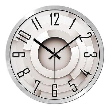 Simple Simple personalidad reloj de pared Circular, silencioso de Digital Relojes decorativos, números arábigos de barrido silencioso reloj de cuarzo, ...