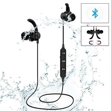 Auriculares Bluetooth deportes inalámbricos a prueba de sudor Auriculares estéreo auriculares Auriculares magnéticos de metal universales