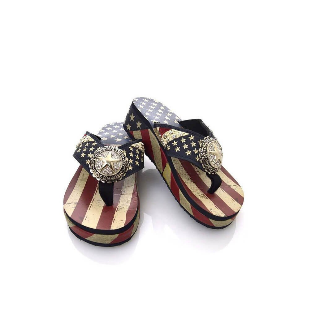 FlagandBanner American Pride Flip Flops Size 8