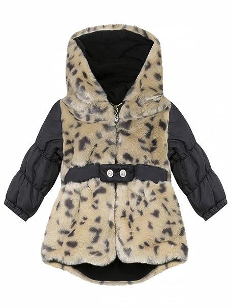 Chipie-Abrigo con capucha para bebé, diseño de pelo de leopardo Chipie beige 12 meses: Amazon.es: Ropa y accesorios