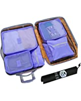 OEE 7 Set Travel Organizers Packing Cubes Luggage Organizers Compression Pouches With Shoes Bag