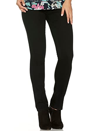 58e2cd28c81a9 M&Co Ladies Skinny Fit Plain Black Stretchy Denim Elastic Waist Jegging  Jeans Black 10