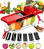 Vegetable Slicer Food Chopper, All-in-One Vegetable Cutter& Julienne Slicer Vegetable Slicer, Fruit and Cheese Cutter & Grater for Slicing, Dicing, Grating, Chopping