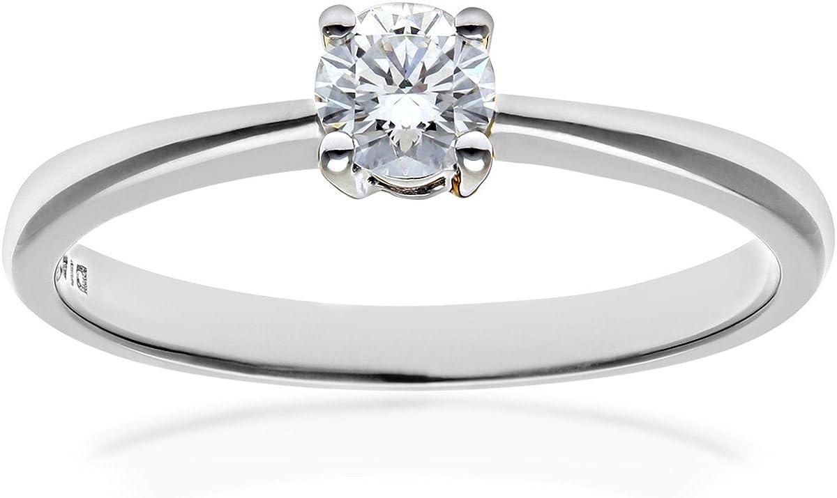 Anello di fidanzamento in platino con diamante, naava taglio rotondo PR04305PTJPK-J
