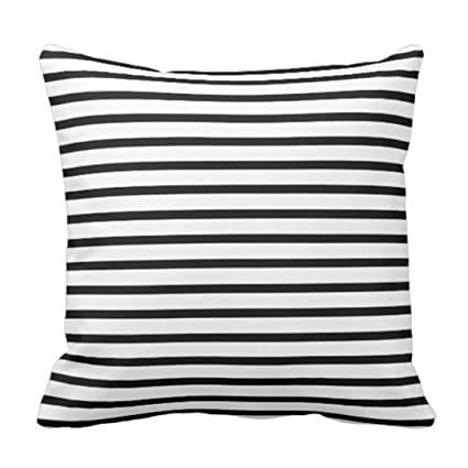 Amazon Emvency Throw Pillow Cover Colorful Garden Black And Enchanting Black And White Striped Decorative Pillows