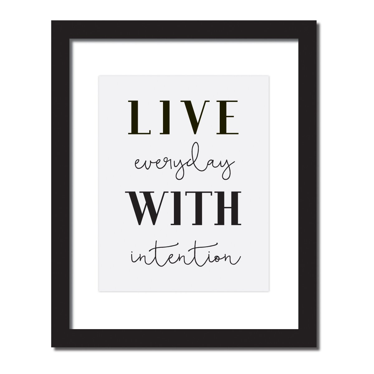 'Live Everyday With Intention' Inspirational Quote Print . UNFRAMED. by Craft Street Design