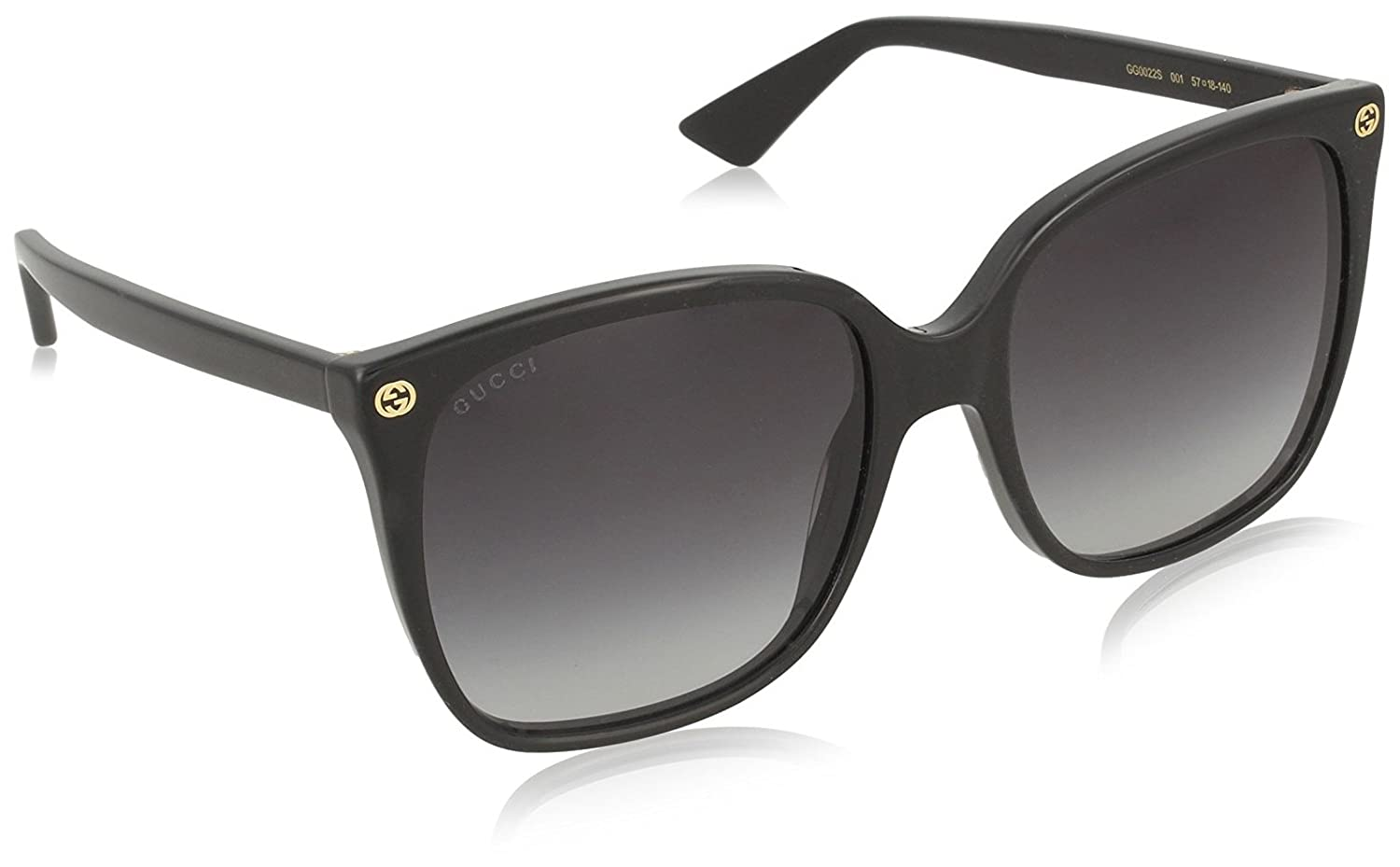 Gucci Women Gg0022 S 57 Black/Grey Sunglasses 57mm by Gucci