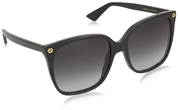 0b30a847db Image Unavailable. Image not available for. Color  Gucci GG0022S Sunglasses  001 Black   Grey Gradient Lens ...