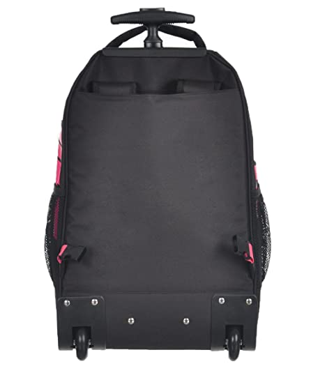 Amazon.com  Nike Extra-Large Wheeled Backpack - black pink, one size   Sports   Outdoors fc0771ae8f