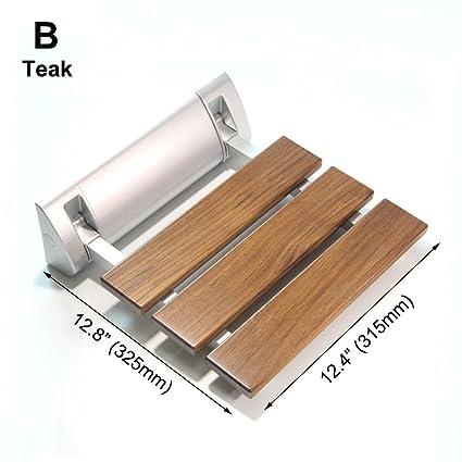 Amazon.com: JCWANGDEFU Folding Shower Seat Wall Mounted Bathroom ...