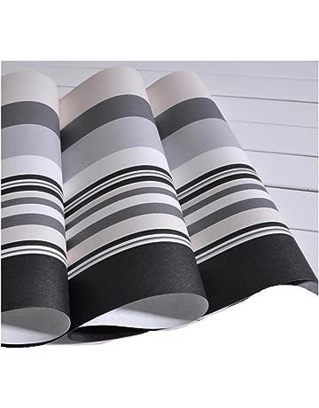 GAOJIAN Gris Blanco y Negro Papel Pintado de Rayas Verticales Sala de Estar no Tejida Dormitorio