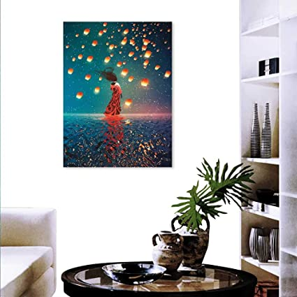 Amazon Com Fantasy Art Canvas Prints Sorcerer Woman Red