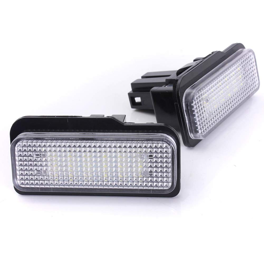 Wildlead 2Pcs No Error License Plate LED Light for Mercedes Benz W203 W211 W219 SLK CLS C21