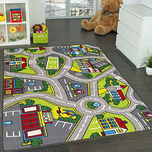 Learning Carpets City Life Play Carpet 5' x 7' New Kids Rugs Great For Playing With Cars & Toys - Play Safe Learn Educational & Have Fun -Ideal Gift For Children Baby Bedroom Play Room Game Play Mat by Mybecca