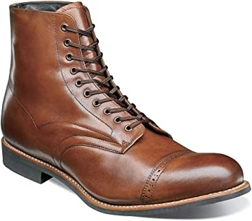 STACY ADAMS Mens Madison Cap Toe Lace Up Boot