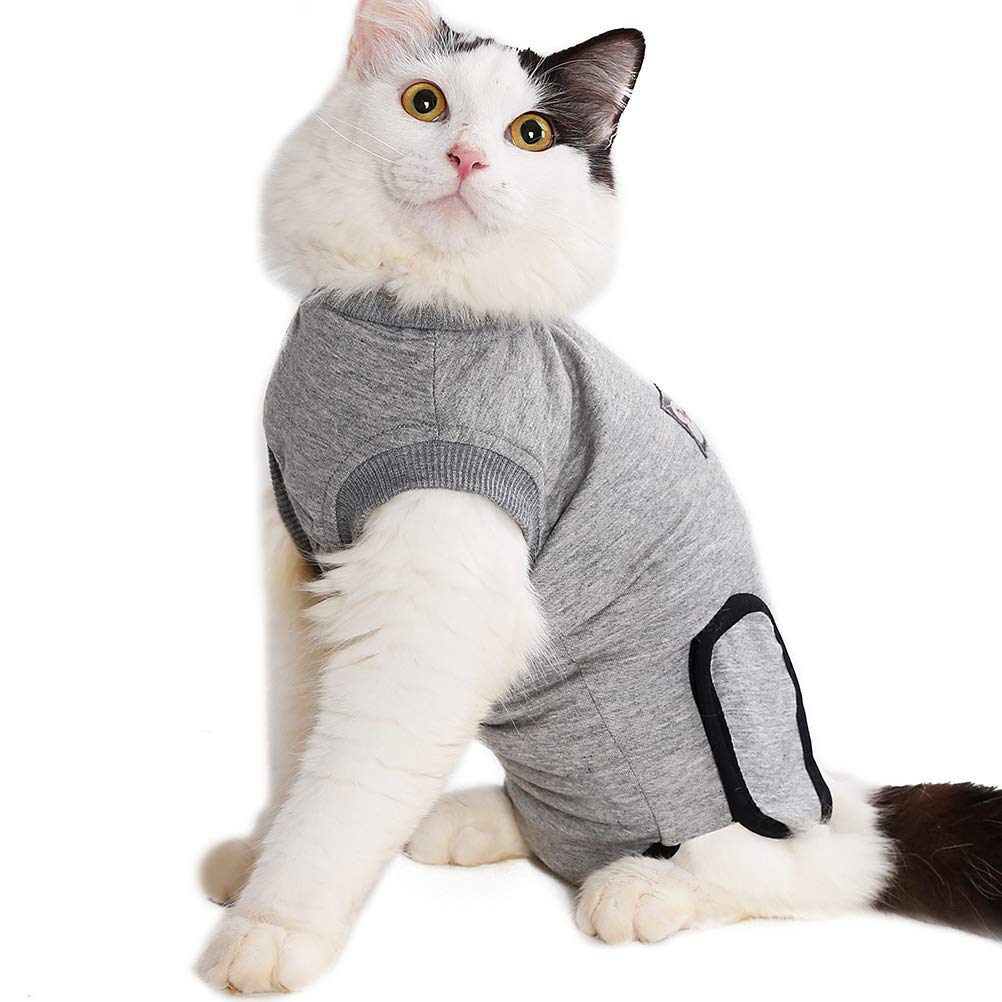 Balacoo Cat Surgery Wear Pet Recovery Sterilization Weaning Clothes for Cats Dogs (Grey) by Balacoo