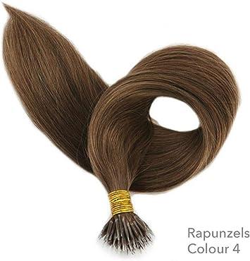Rapunzels Nano Tip Nano Ring Extensiones de cabello Doble dibujo ...