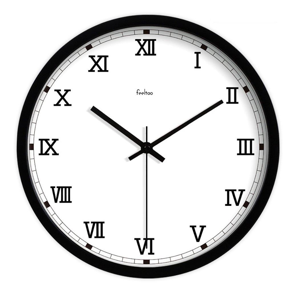 レトロシンプルな現代ローマンデジタルウォールクロックラージリビングルームウォールチャートサイレントクォーツ時計 (色 : C, サイズ さいず : 12inch) B07F1GHZ75 12inch|C C 12inch