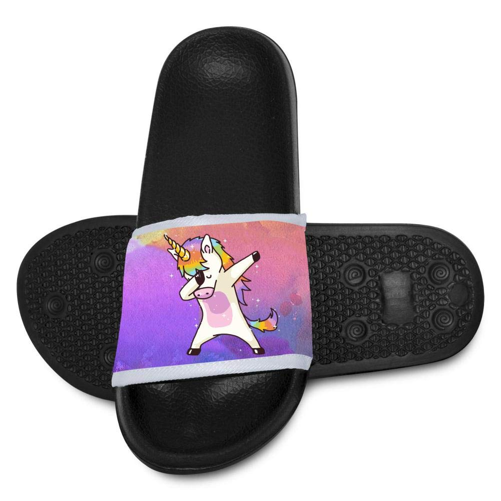 Rainbow Horse Shower Slippers Beach Sandals for Little Kids Boys Girls Indoor Outdoor