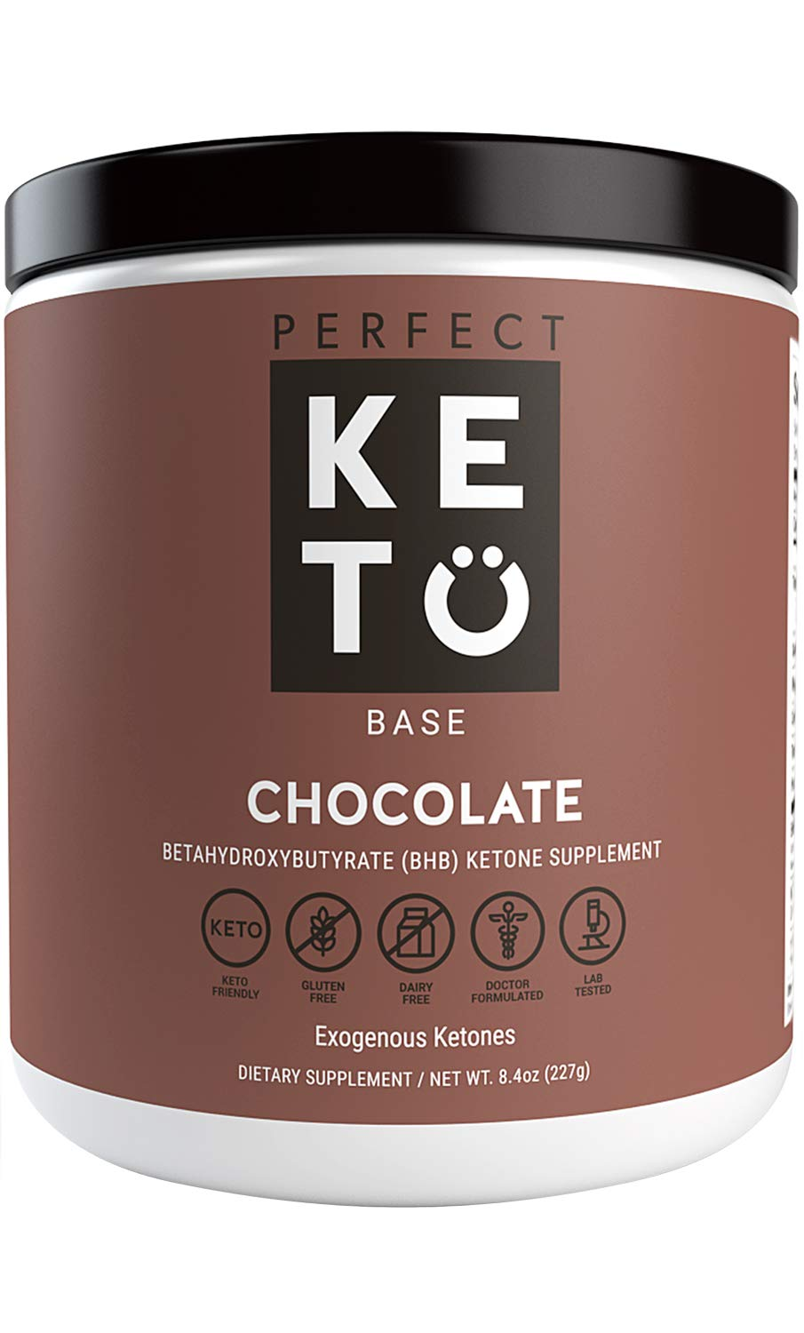 Perfect Keto Chocolate Exogenous Ketones: Base BHB Salts Supplement. Ketones for Ketogenic Diet Best to Burn Fat to Support Energy, Focus and Ketosis Beta-Hydroxybutyrate BHB Salt