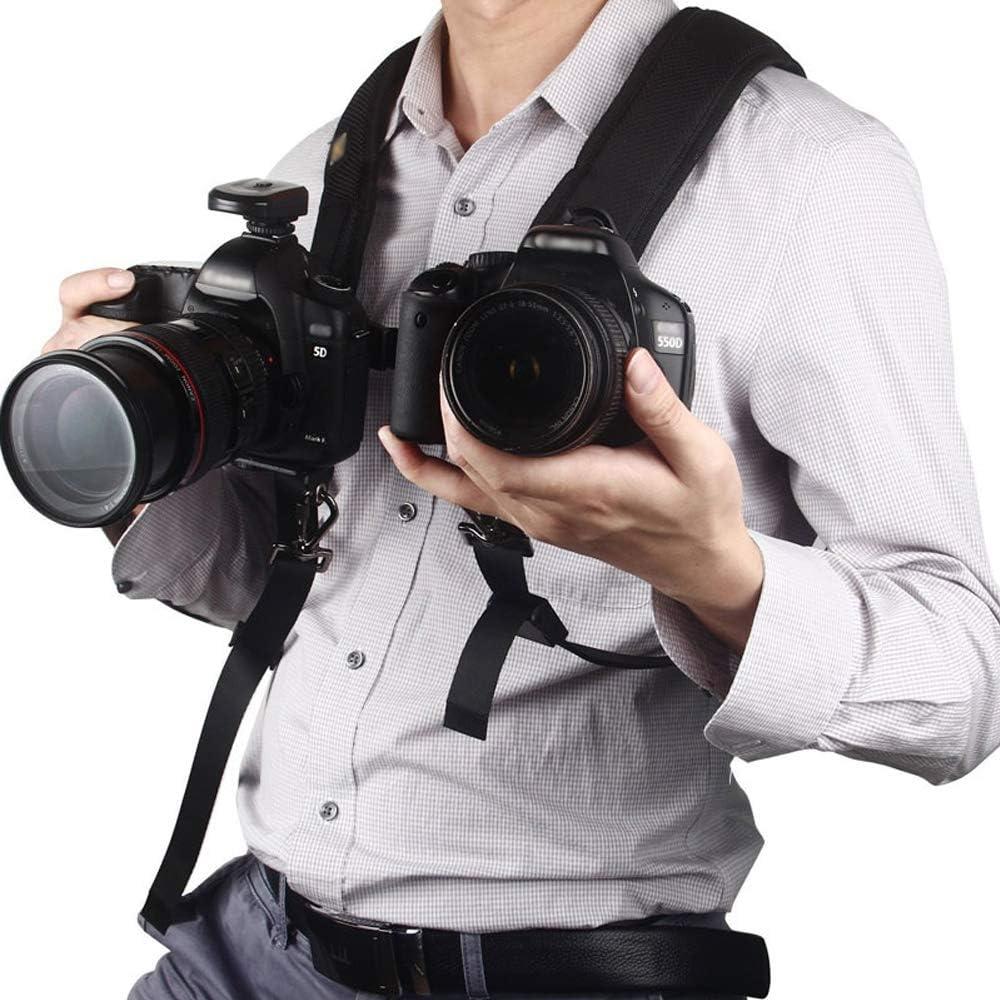 Doble correa de hombro doble para cámara réflex digital con 2 ...