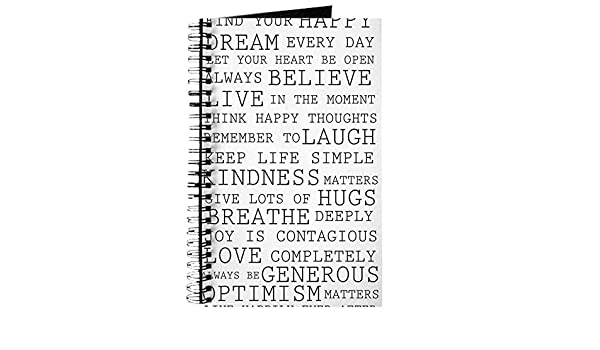 Amazoncom Cafepress Positive Thoughts Spiral Bound Journal